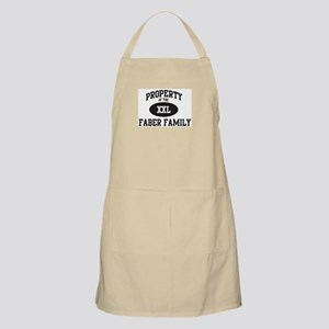 Property of Faber Family BBQ Apron