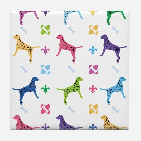 Dalmatian Designer Tile Coaster