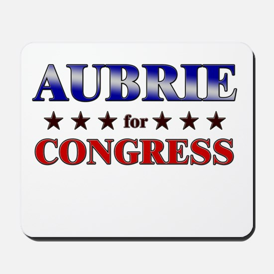 AUBRIE for congress Mousepad