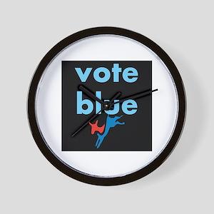 Vote Blue Wall Clock