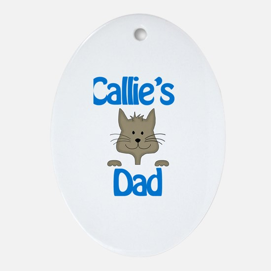 Callie's Dad Oval Ornament