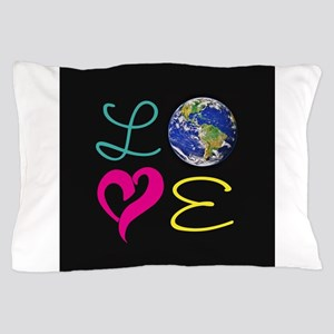 I Heart Earth Pillow Case