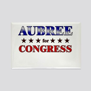 AUBREE for congress Rectangle Magnet