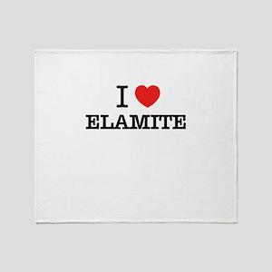 I Love ELEKTRA Throw Blanket