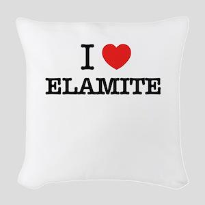 I Love ELEKTRA Woven Throw Pillow