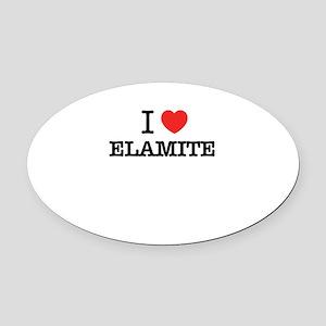 I Love ELEKTRA Oval Car Magnet