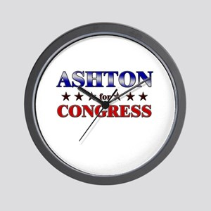 ASHTON for congress Wall Clock