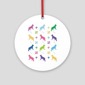 German Shepherd Designer Ornament (Round)