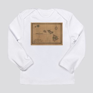 Vintage Map of Hawaii (1876) Long Sleeve T-Shirt