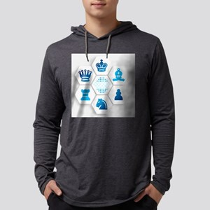 Chess on Hexagonal Tiles Long Sleeve T-Shirt