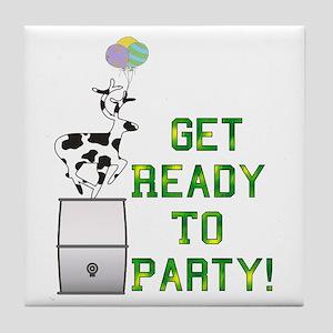 Ready To Party Tile Coaster