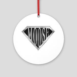 SuperMoose(metal) Ornament (Round)