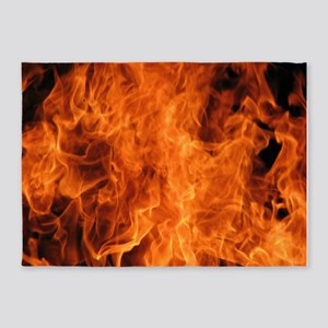 Fire 5'x7'Area Rug
