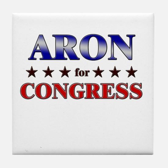 ARON for congress Tile Coaster