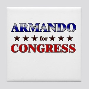 ARMANDO for congress Tile Coaster