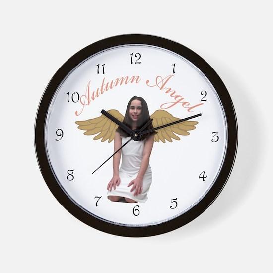 Autumn Angel Wall Clock