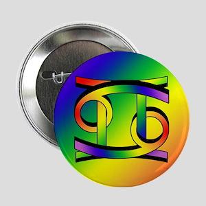 """GLBT Cancer & Gemini w 2.25"""" Button"""