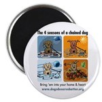 4 Seasons of Chained Dog Magnet
