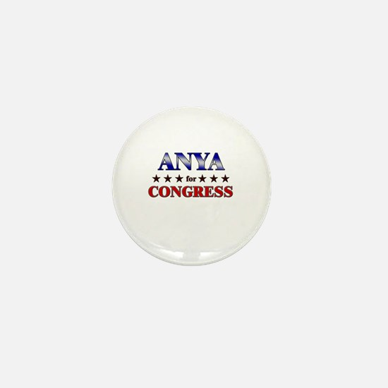 ANYA for congress Mini Button