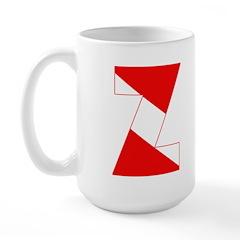 https://i3.cpcache.com/product/189254368/scuba_flag_letter_z_large_mug.jpg?side=Front&color=White&height=240&width=240