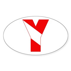 https://i3.cpcache.com/product/189257460/scuba_flag_letter_y_oval_decal.jpg?side=Front&color=White&height=240&width=240