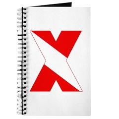 https://i3.cpcache.com/product/189259030/scuba_flag_letter_x_journal.jpg?side=Front&height=240&width=240