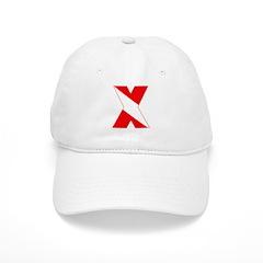 https://i3.cpcache.com/product/189259035/scuba_flag_letter_x_baseball_cap.jpg?side=Front&color=White&height=240&width=240