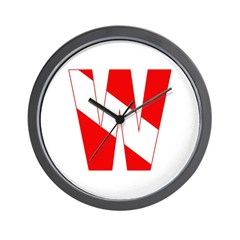 https://i3.cpcache.com/product/189260257/scuba_flag_letter_w_wall_clock.jpg?side=Front&height=240&width=240