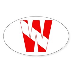 https://i3.cpcache.com/product/189260258/scuba_flag_letter_w_oval_decal.jpg?side=Front&color=White&height=240&width=240