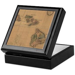 Hawaiian Jewelry Boxes CafePress - Antique map box