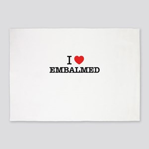 I Love EMBALMED 5'x7'Area Rug