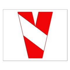 https://i3.cpcache.com/product/189263269/scuba_flag_letter_v_posters.jpg?side=Front&height=240&width=240