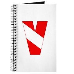 https://i3.cpcache.com/product/189263280/scuba_flag_letter_v_journal.jpg?side=Front&height=240&width=240