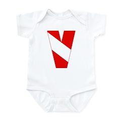 https://i3.cpcache.com/product/189263325/scuba_flag_letter_v_infant_bodysuit.jpg?side=Front&color=CloudWhite&height=240&width=240