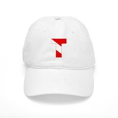 https://i3.cpcache.com/product/189265119/scuba_flag_letter_t_baseball_cap.jpg?side=Front&color=White&height=240&width=240