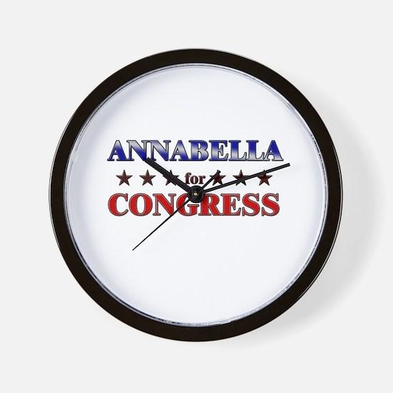 ANNABELLA for congress Wall Clock