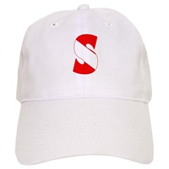 https://i3.cpcache.com/product/189265723/scuba_flag_letter_s_baseball_cap.jpg?side=Front&color=White&height=240&width=240