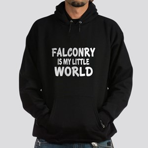 falconry Is My Little World Hoodie (dark)