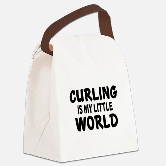 Curling Is My Little World Canvas Lunch Bag