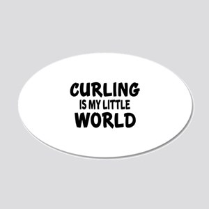 Curling Is My Little World 20x12 Oval Wall Decal