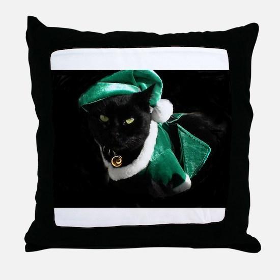Cool Black cat Throw Pillow