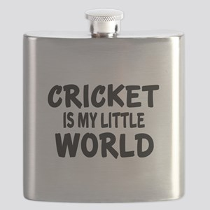Cricket Is My Little World Flask
