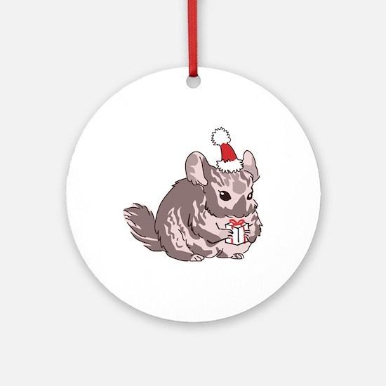 Chinchilla Christmas Round Ornament