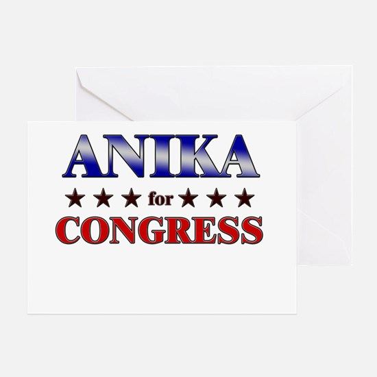 ANIKA for congress Greeting Card
