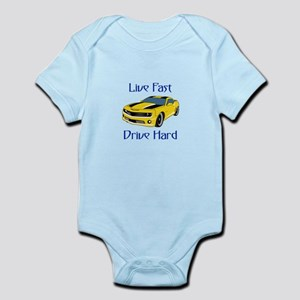 Live Fast Drive Hard Body Suit