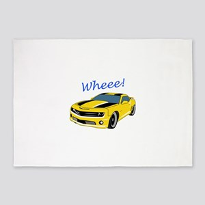 Wheee Fast Cars 5'x7'Area Rug