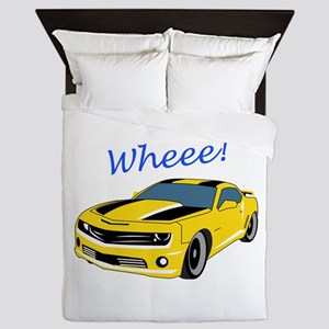 Wheee Fast Cars Queen Duvet