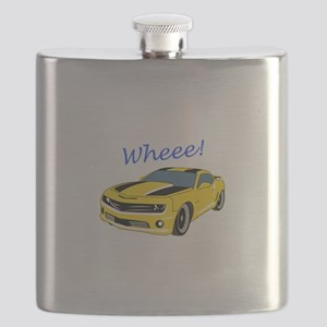 Wheee Fast Cars Flask