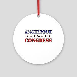 ANGELIQUE for congress Ornament (Round)