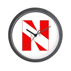https://i3.cpcache.com/product/189272115/scuba_flag_letter_n_wall_clock.jpg?height=240&width=240